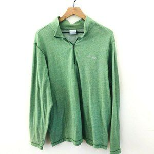 Columbia Green 1/4 Zip Pullover L